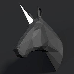 3D model polyanimalunicornhorse