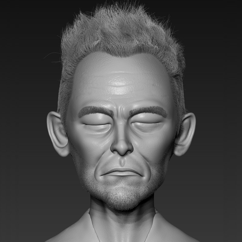 3D young man