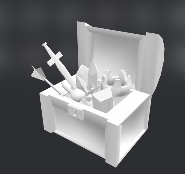 treasureboxjewelry crown sword 3D model
