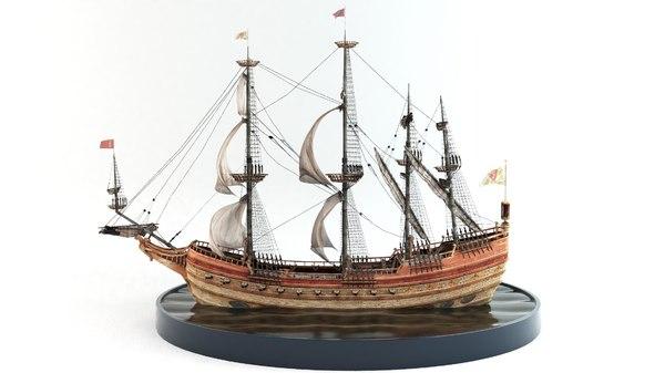 ship galleon n 3D