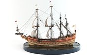 ship galleon n 3D
