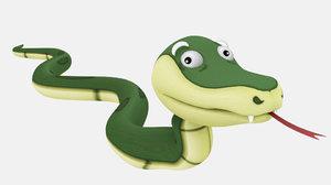 3D snake cartoon