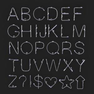 neon alphabet model