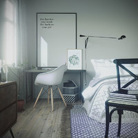 scene bedroom realistic model