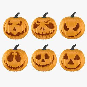 3D halloween pumpkin o