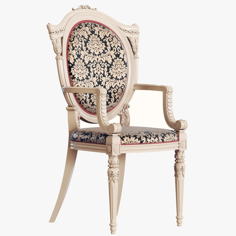 Chair Baroque 3d Model Turbosquid 1340306