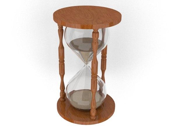 sand clock 3D model
