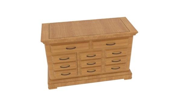 3D model cantenbury cabinet