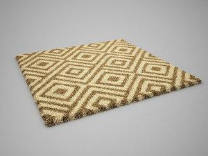 realistic carpet rug 3D model