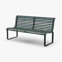 city-bench-02---aged 3D model