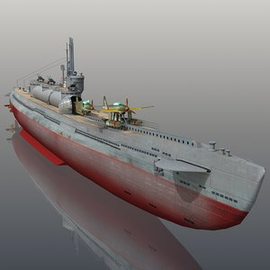 3D i-400 japanese navy submarine