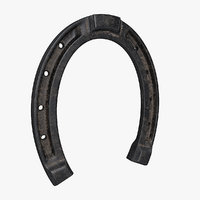 Model of a horseshoe with PBR textures