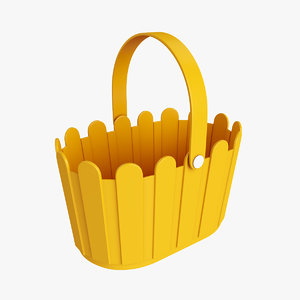 plastic basket handle 3D model