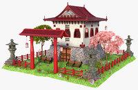 3D japan japanese house model