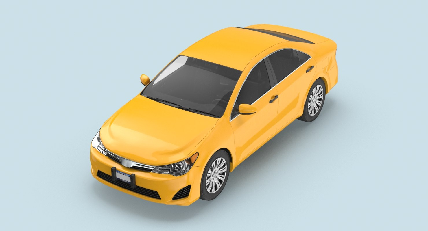 3D modern-new-york-city-taxi-03---clear model