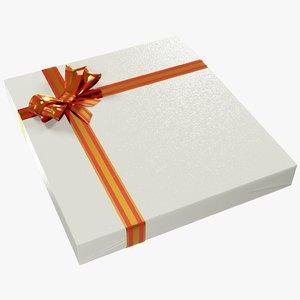 3D gift ribbons box model