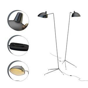 3D model floor lamp serge mouille