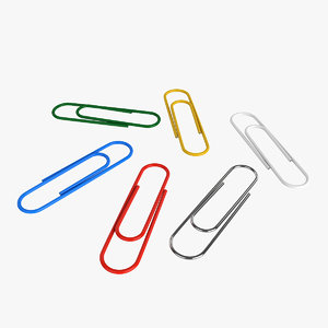paperclip office 3D model