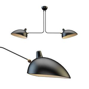 3D handelier serge mouille lamp model