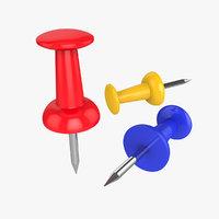 push pin 3D model