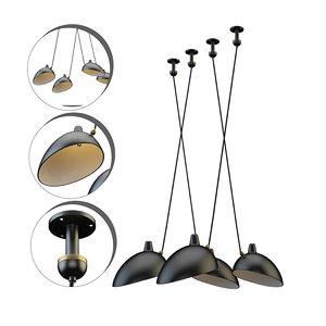 handelier serge lamp mouille 3D model