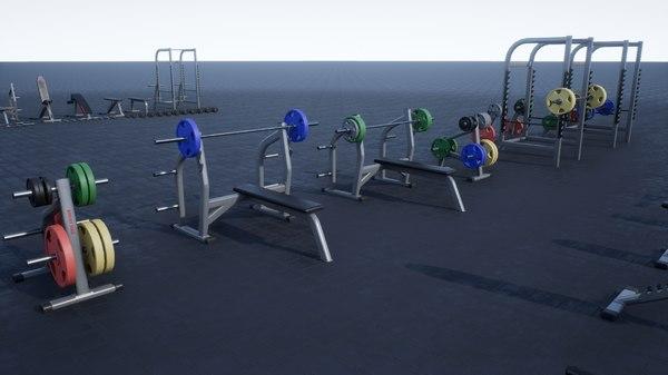 3D model gym props pack 01