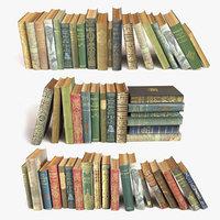 old books on a shelf set 5