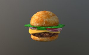 krabby patty spongebob 3D model