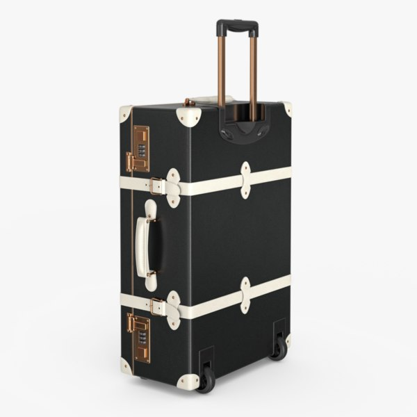 vintage style suitcase 3D model