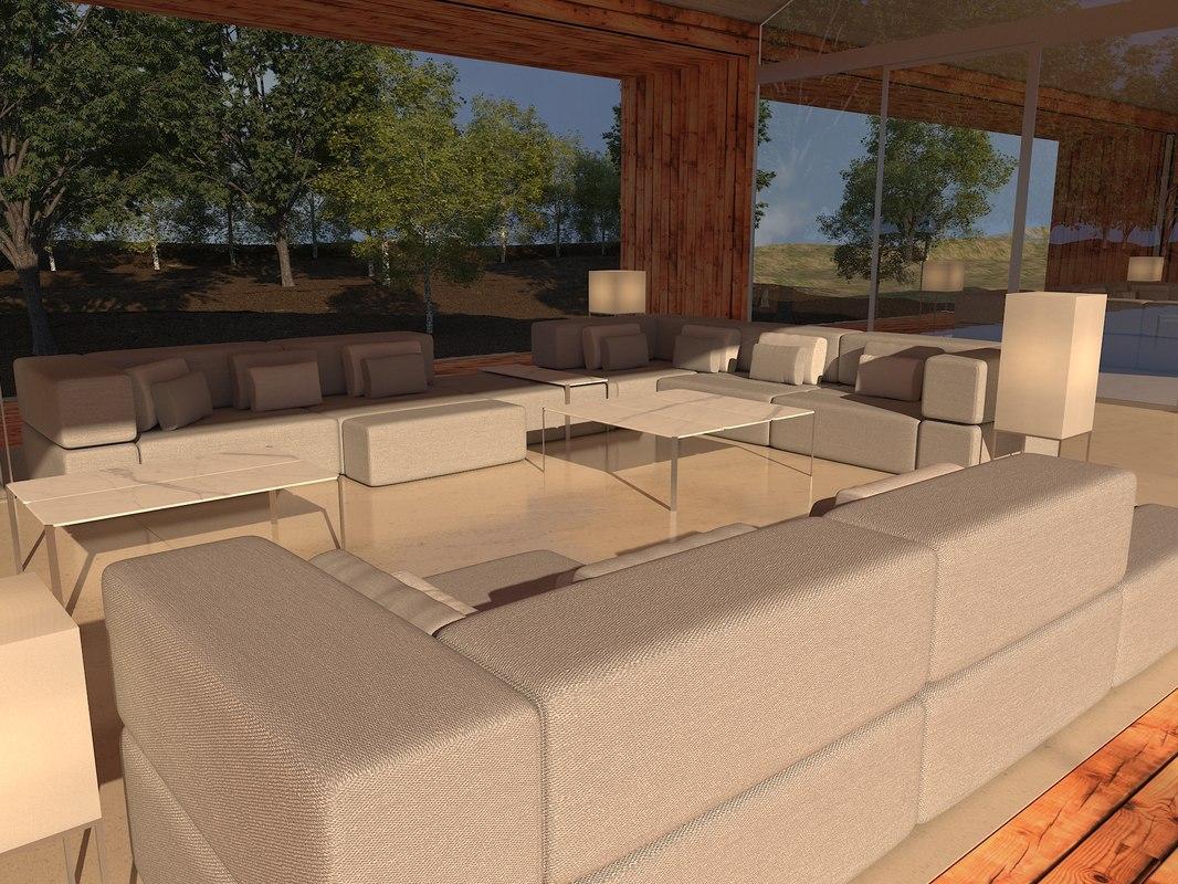 3D ramon tablet sofa tables model