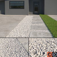 Scatterable White Pebbles