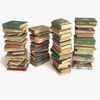 books stacked on the floor set 8