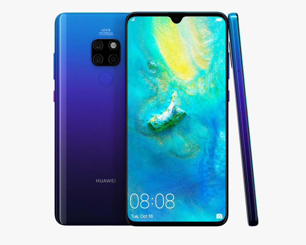 huawei mate 20 twilight 3D model