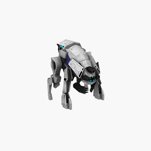 robot dog animation 3D