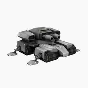 3D sci-fi tank animation