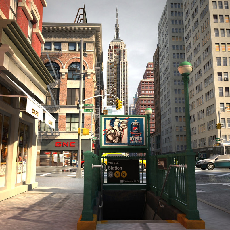 3d model nyc streets