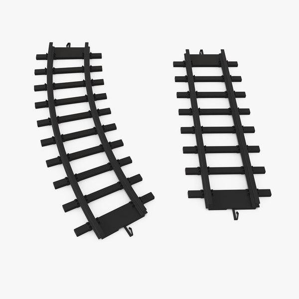 toy rails set 3D model