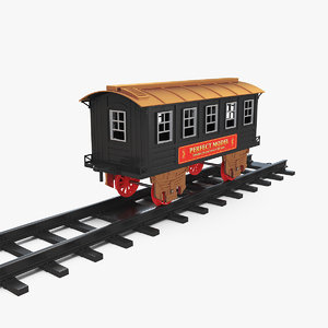 toy train carriage rails model