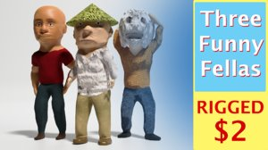 3D fellas funny model
