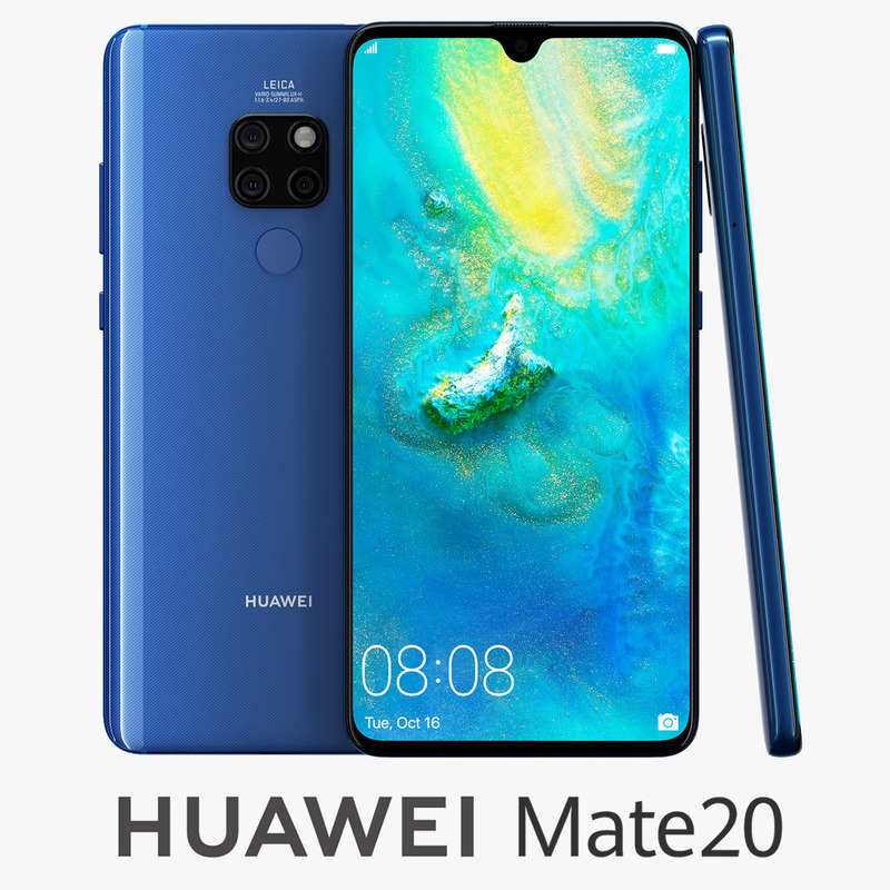 huawei mate 20 blue 3D model