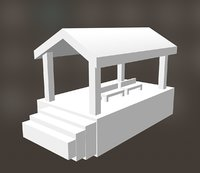 3D railway station model