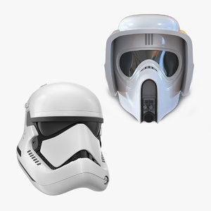 3D star wars helmets