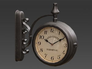 3D model street clock