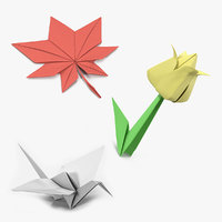 Origami Paper Toys 3D Models Collection