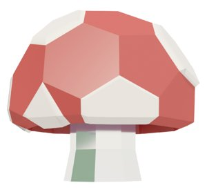 3D model low polymushroom