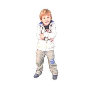 3D kid cool model