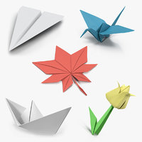 3D origami paper toys 2 model