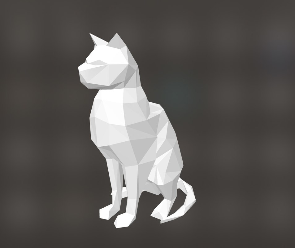 low polycatanimal model
