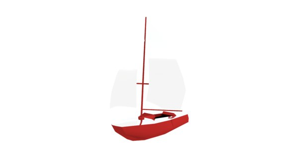 sailboatboatseavehicle 3D model