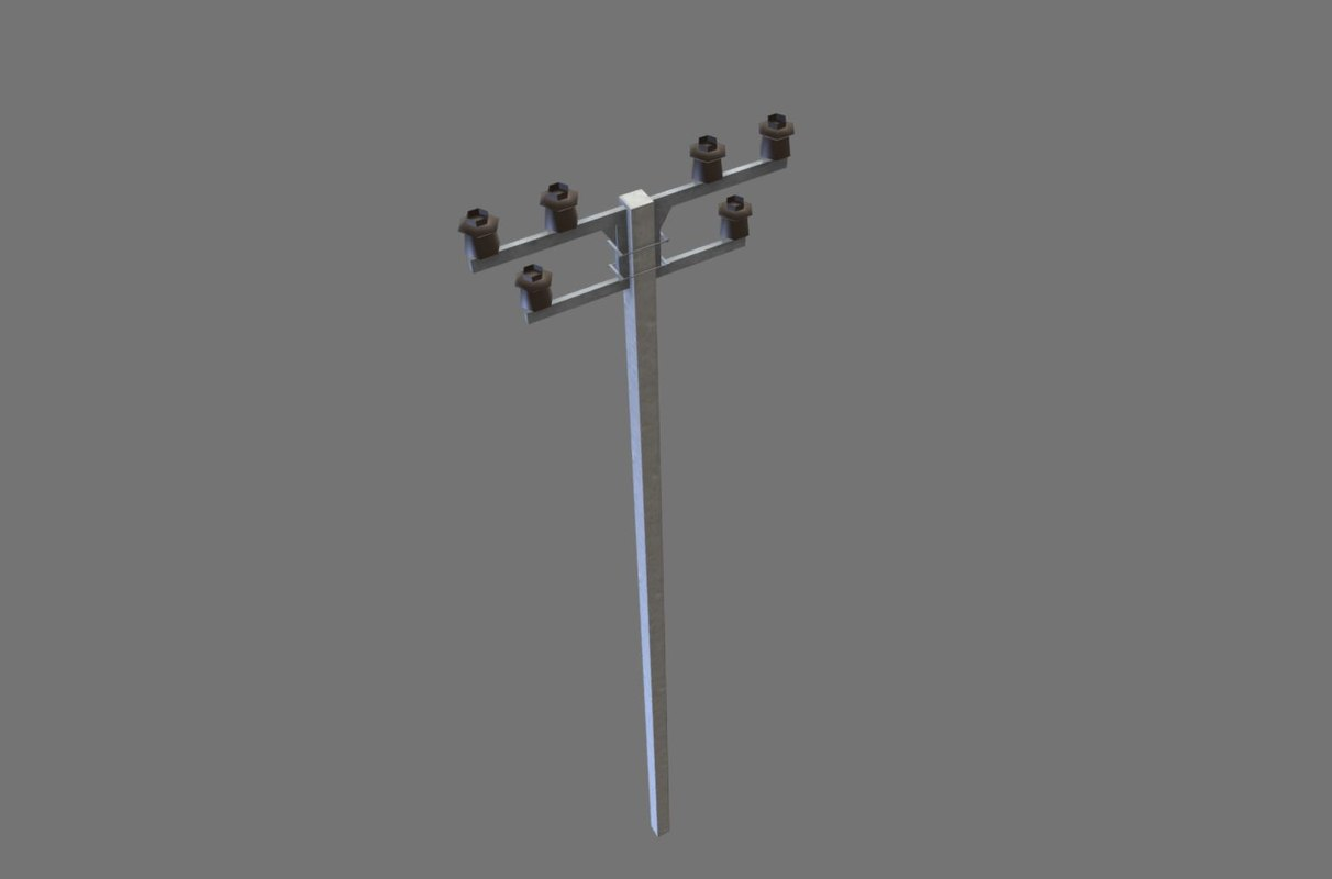 3D electric pole